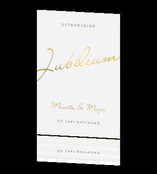 Verrassend Jubileumkaart voor 50 jaar met goudfolie tekst AN-78